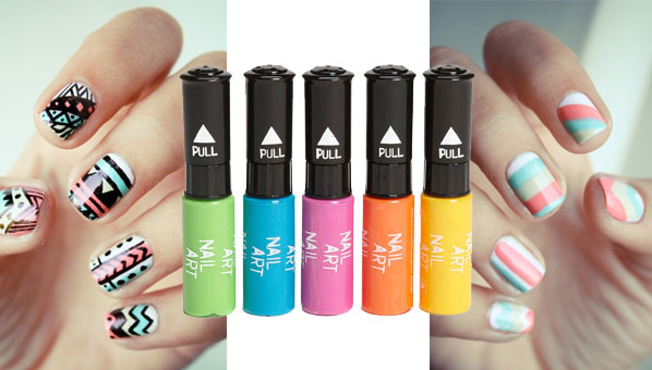 Neon nail pens npw nail art pens best polish pens large editorial image prinsesfo Images