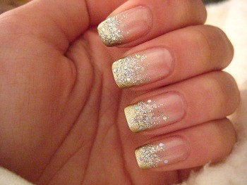 Ombre Glitter Nails Via Mazel Moments