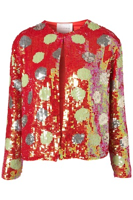 Polka Dot Sequin Jacket by Louise Gray