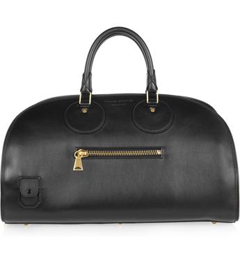 Proenza Schouler Kiri leather and canvas bowling bag
