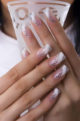 White Stripe With Glitter