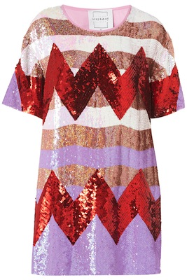 Zigzag Sequin Dress by Louise Gray