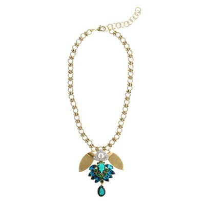Lulu Frost for J.Crew crystal petal necklace