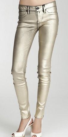 Bebe Silverado Metallic Skinny Jean