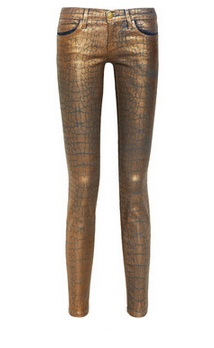 Current Elliot The Ankle Metallic Skinny Jeans