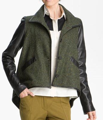 10 Crosby Derek Lam Leather Sleeve Jacket