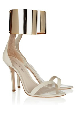 Esteban Cortazar Metal ankle-cuff leather sandals