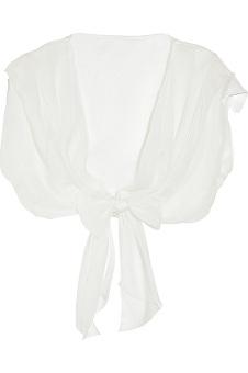 Alberta Ferretti Silk-Chiffon Shrug