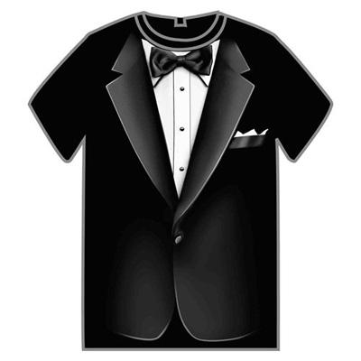 Black Formal Suit Instant Halloween Costume Tuxedo T Shirt