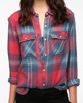 Burnout Flannel Shirt