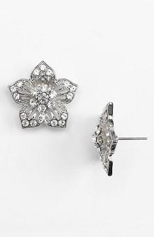 Cara Accessories Large Flower Stud Earrings