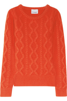 Crumpet Cable-knit cashmere sweater
