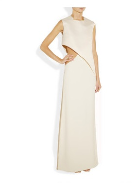 Esteban Cortazar Cutout cady and velvet gown