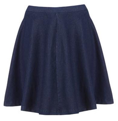 Dark Denim Skater Skirt