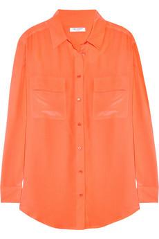 Equipment Signature washed-silk crepe de chine shirt