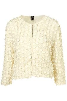 Top Shop Flower Applique Crop Jacket