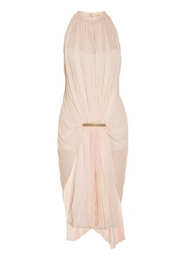 Esteban Cortazar Gathered accordion-pleated chiffon dress