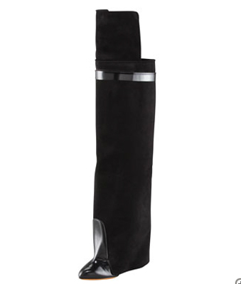 Givenchy Spazzolato and Suede Over-the-Knee Boot