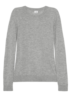 Iris & Ink Fine-knit cashmere sweater light gray