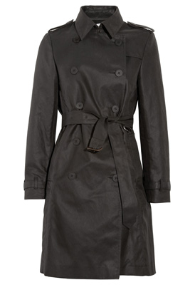 Iris & Ink The Perfect cotton twill trench coat black