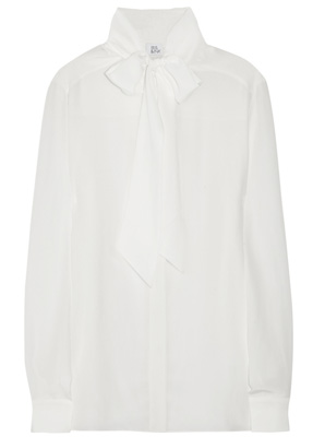 Iris & Ink The Pussybow silk-crepe blouse