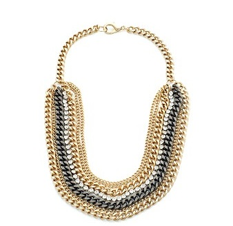 Janis Savitt Gold Crystal Chain Necklace