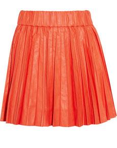 Karl Saatchi pleated faux leather mini skirt