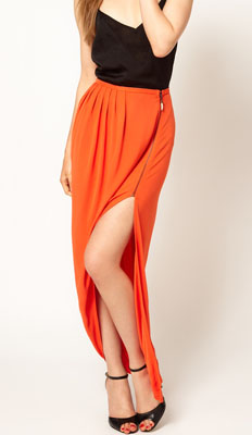 Kore by Sophia Kokosalaki Ruched Zip Wrap Skirt