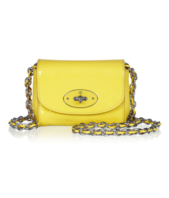 Mulberry Mini chain-strap patent-leather shoulder bag