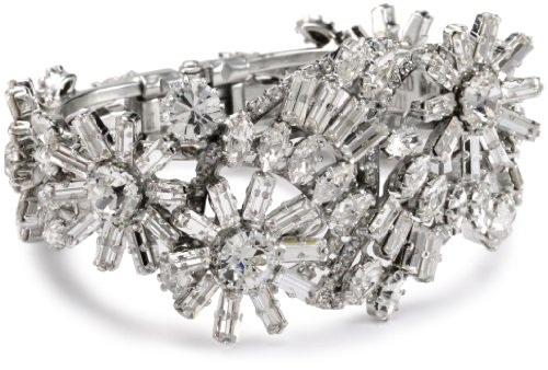 Rodrigo Otazu 'Freedom' Floral Crystal Cuff Bracelet