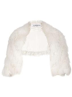 Liska Polar Fox Fur Bolero Jacket