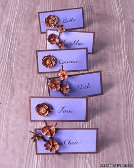 Branch and Flower Place Card