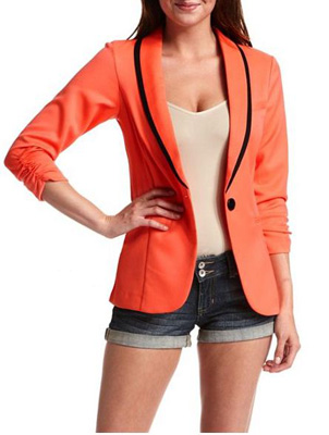 Pop Color Tuxedo Blazer