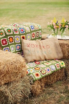 Quilts on Hay Bales