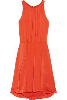 Rebecca Taylor Hammered-satin mini dress