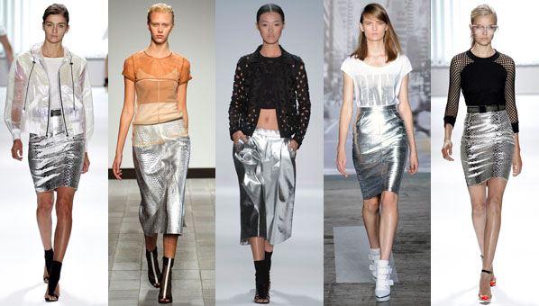 spring 2013 trends silver skirts spring 2013 milly silver skirt