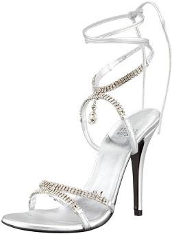 Stuart Weitzman Milliona Jeweled Ankle-Wrap Sandal