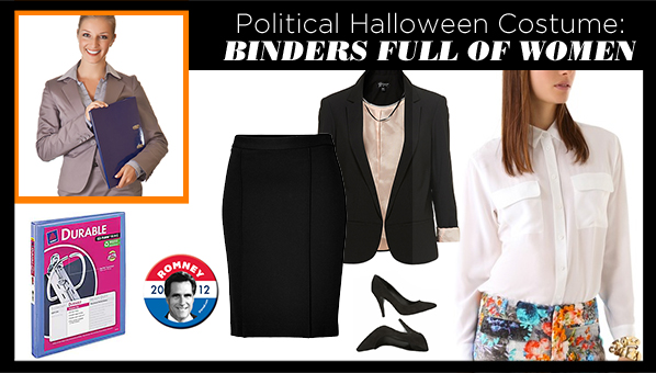 This Yearu0027s Most Politically Incorrect Halloween Costume?  Binders Full Of Women   sc 1 st  SHEfinds & Halloween Costumes 2012 | Binders Full Of Women Halloween Costume ...
