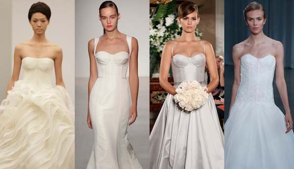 Bustier Wedding Dresses | 2013 Wedding Dress Trends