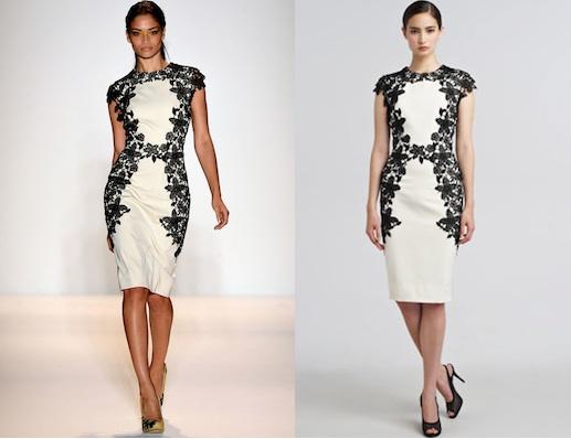Lela rose lace applique sheath dress shefinds