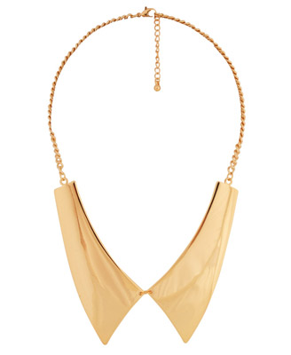 Pointed Flat Collar http://www.shefinds.com/2012/rock-a-double-collar-not-the-popped-kind-with-these-awesome-collar-necklaces/pointed-flat-collar-necklace/