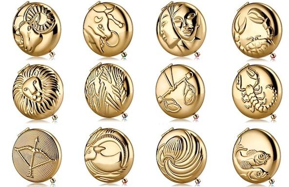 Estee Lauder Zodiac Compacts | Estee Lauder Gold Compacts