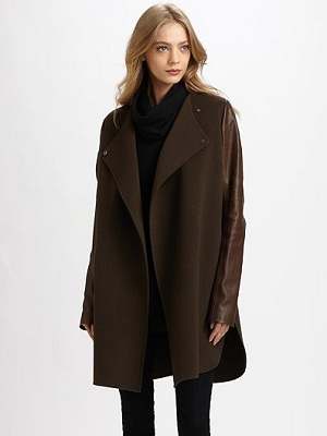 Jackets with Leather Sleeves | Coats With Leather Sleeves « Vince ...