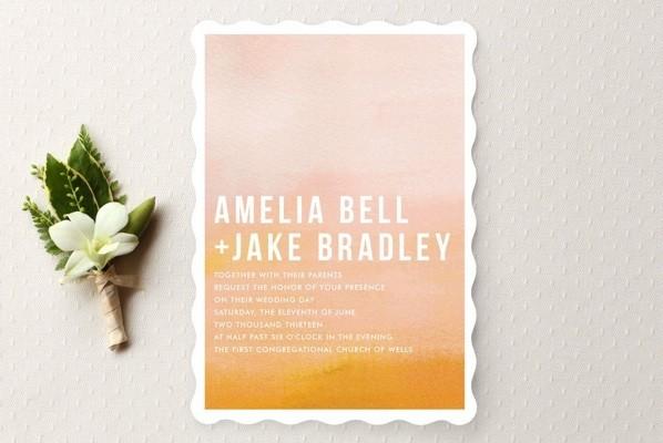 Ombre Wedding Invitation: Ombre Wedding Invitations « SHEfinds