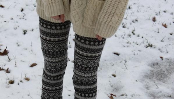 Topshop Large Aztec Knitted Leggings