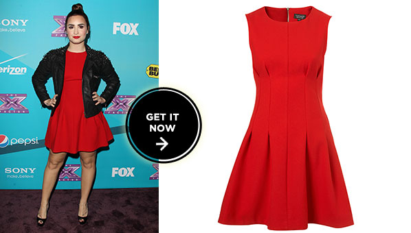 ab615fa0892 Work The Upcoming Holiday Party Circuit In Demi Lovato s  100 Topshop Dress