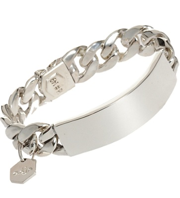 Ann Dexter Jones Silver Medium Rp Id Bracelet 2 535 Maison Martin Margiela