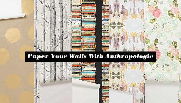 Anthropologie wallpaper polka dot wallpaper ikat for Anthropologie dreamscape mural