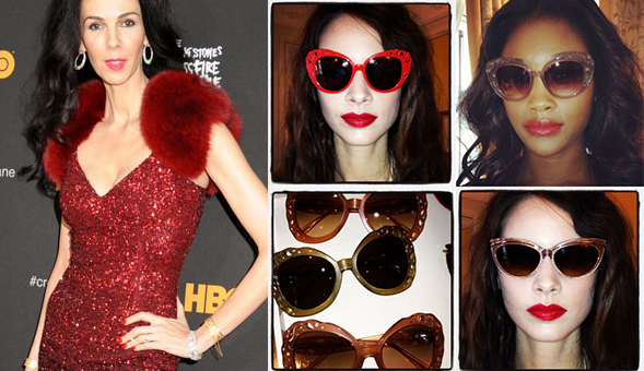 scott sunglasses eaoi  FIRST LOOK: L'Wren Scott's Debut Eyewear Collection To Launch In February