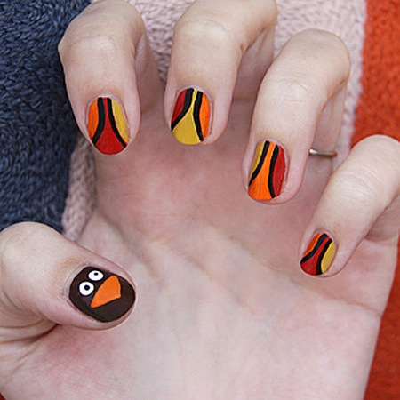 turkey trot nail art